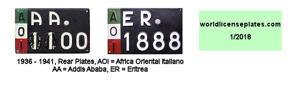 Abyssinia License Plates