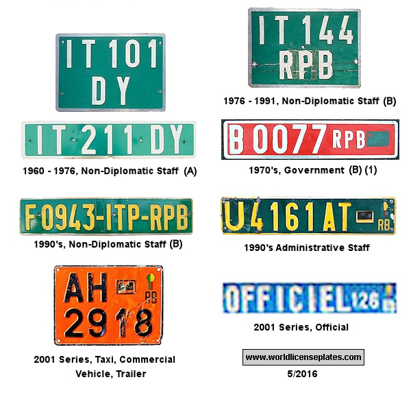 Benin License Plates