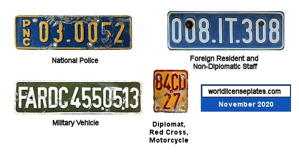 DR Congo License Plates