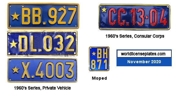 Republic of Congo License Plates