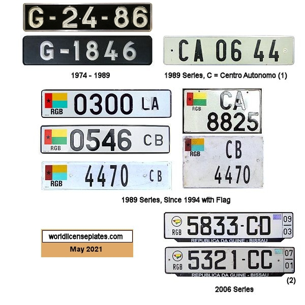 Guinea-Bissau License Plates