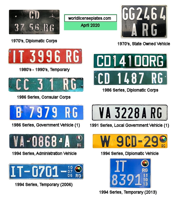 Guinean License Plates