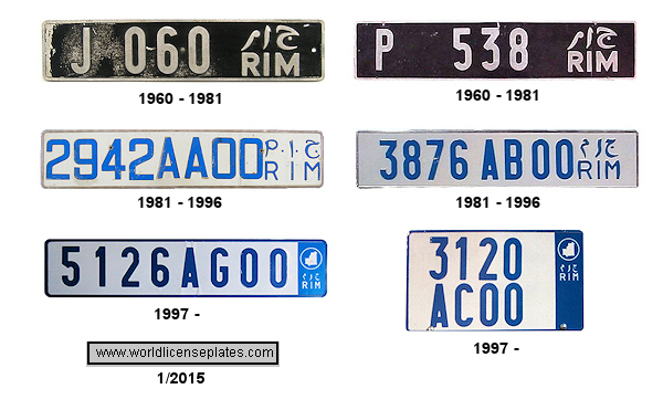 Mauritanian License Plates
