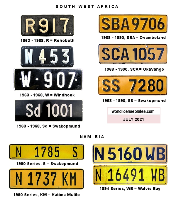 Namibian License Plates