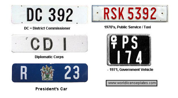 Rhodesia License Plates