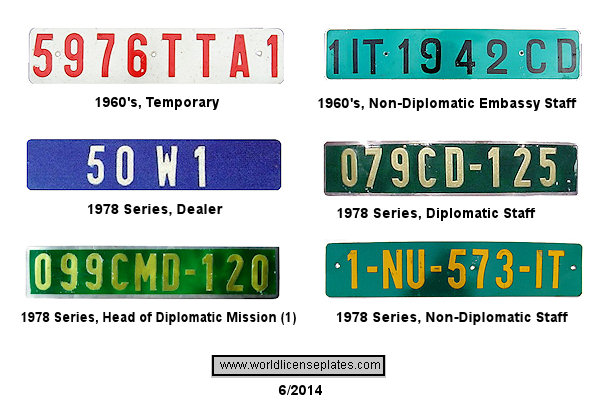 Senegalese License Plates