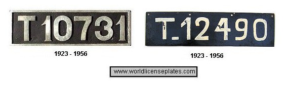 Tangier License Plates
