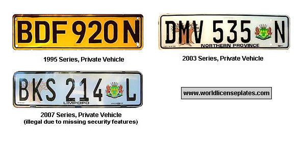 Limpopo License Plates