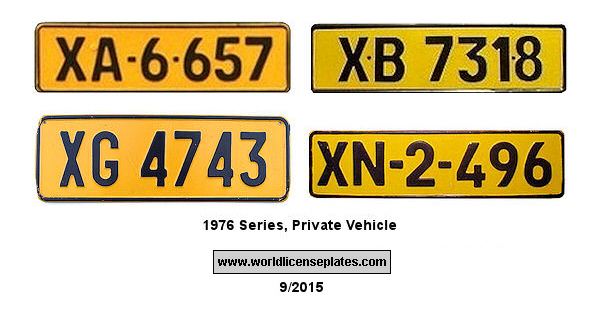 Transkei License Plates