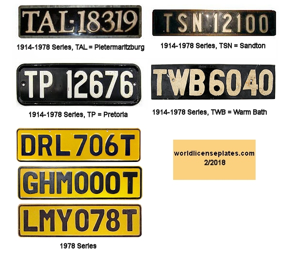 Transvaal License Plates