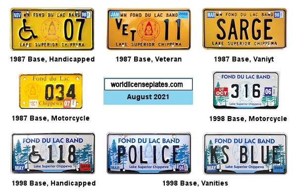 License Plates of the Fond du Lac Chippewa