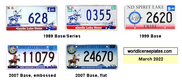 License Plates of the Spirit/Devils Lake Sioux