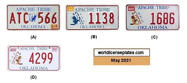 License Plates of the Apache Tribe