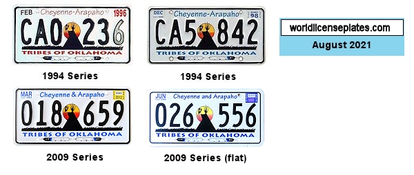 License Plates of the Cheyenne-Arapaho Tribe