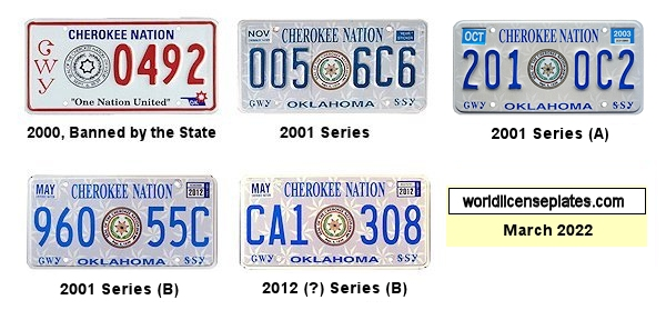 License Plates of the Cherokee Nation