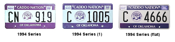 License Plates of the Caddo Nation