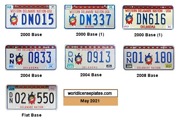 License Plates of the Delaware Nation