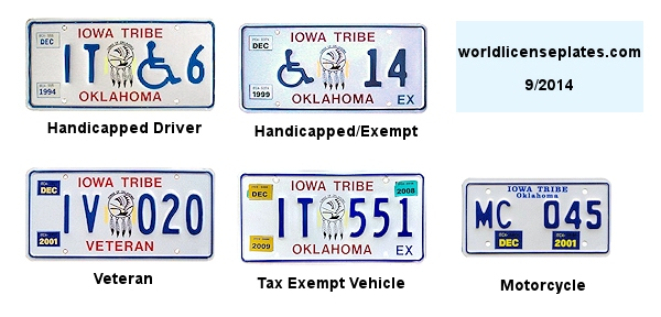 License Plates of the Iowa Tribe