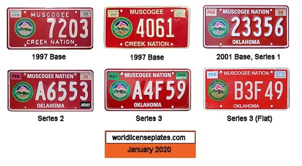 License Plates of the Muscogee Creek Nation