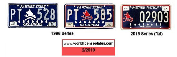 License Plates of the Pawnee Nation
