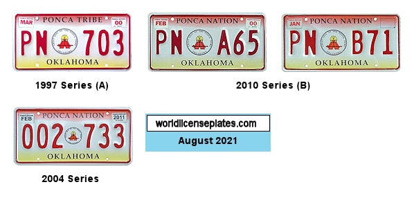 License Plates of the Ponca Nation