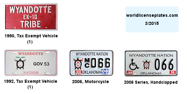 License Plates of the Wyandotte Nation