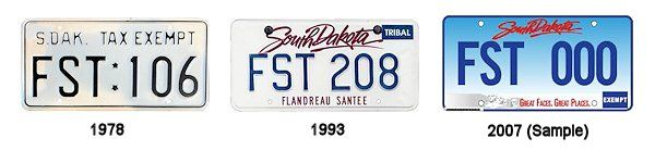 License Plates of the Flandreau Santee Sioux