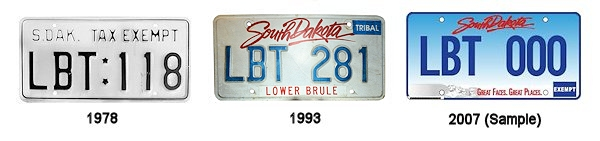 License Plates of the Lower Brule Sioux