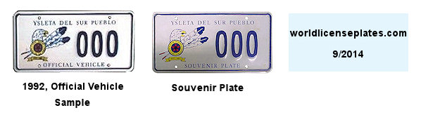 License Plates of the Ysleta Del Sur Pueblo