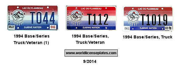 License Plates of the Lac du Flambeau Ojibwe Nation