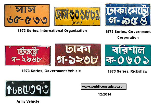 Bangladesh License Plates