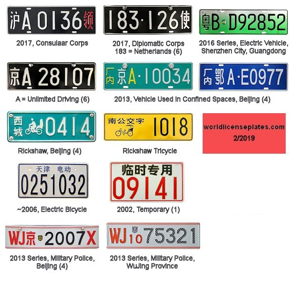 Chinese License Plates