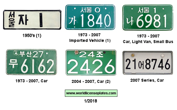South Korean License Plates