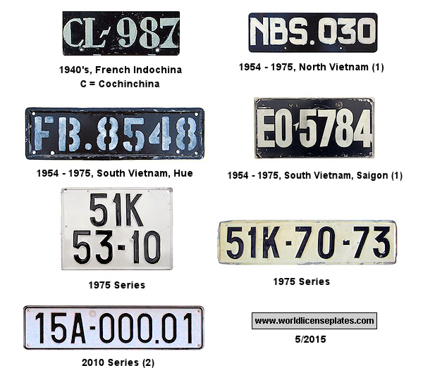 Vietnamese License Plates