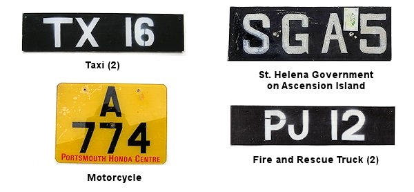Ascension Island License Plates