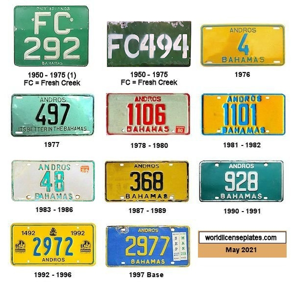 Andros License Plates
