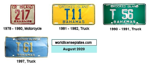 Crooked Island License Plates
