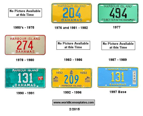 Harbour Island License Plates