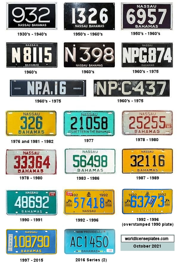 New Providence License Plates