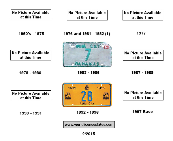 Rum Cay License Plates