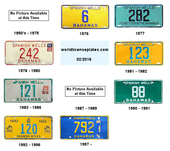 Spanish Wells License Plates