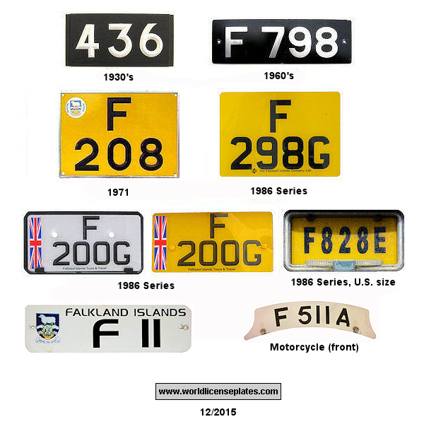 Falkland Islands License Plates