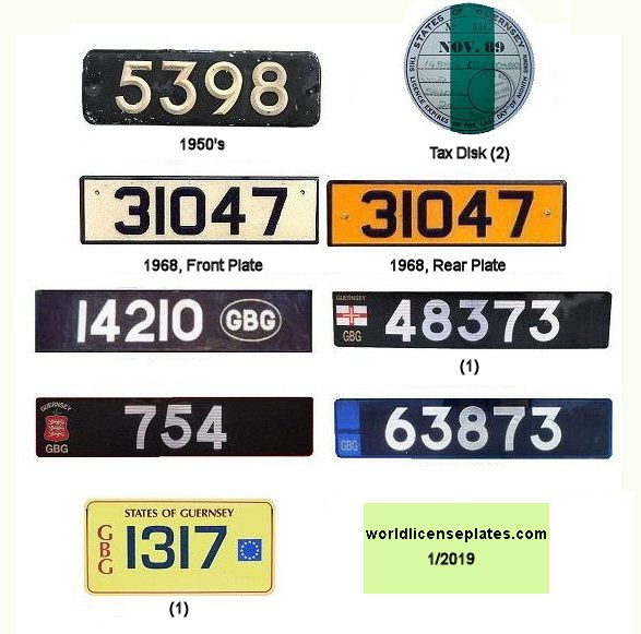 Guernsey License Plates