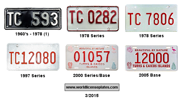 Turks and Caicos License Plates