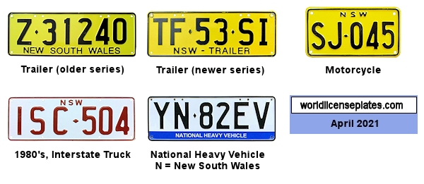 New South Wales License Plates