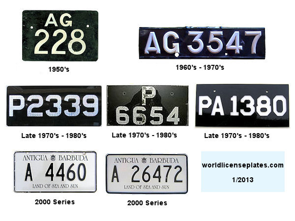 Antigua Barbuda License Plates