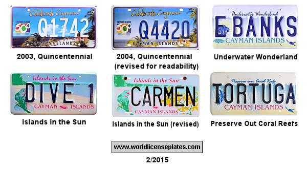 Cayman Islands License Plates