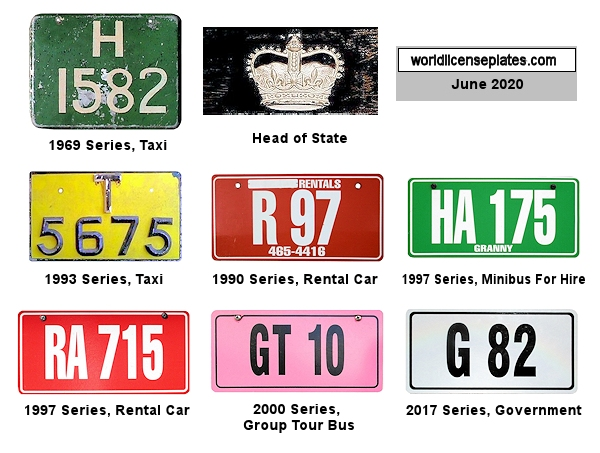 St. Kitts and Nevis License Plates