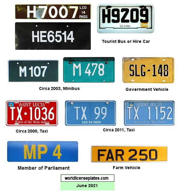 St. Lucia License Plates