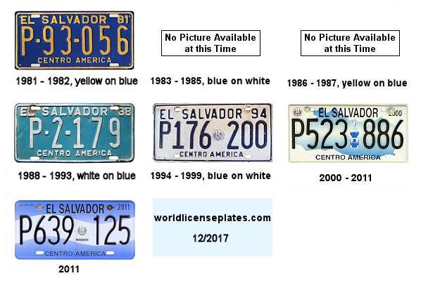 El Salvador License Plates